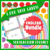 Subtraction Task Cards ENDLESS Bundle: Subtraction Fluency