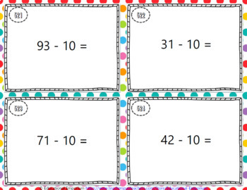 Subtraction Task Cards ENDLESS Bundle: Subtraction Fluency and Word Problems