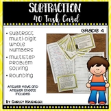 Subtraction Task Cards 4th Grade