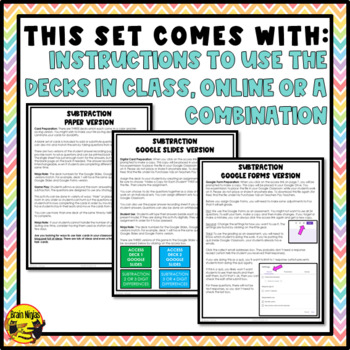 Subtraction Task Cards Grades 4-5