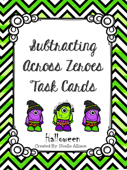 Subtraction Task Cards (Halloween Theme)