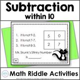 Subtraction Math Logic Task Cards