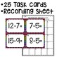 Subtraction Task Cards Math Centers Numbers 0-20