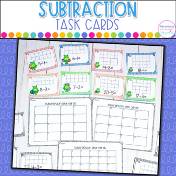 Subtraction Task Cards- Single and Double Digit