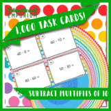 Subtraction Task Cards, Subtract Multiples of 10, 1.NBT.6