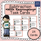 Subtraction Task Cards - With Borrowing/Regrouping
