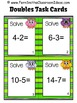 Subtraction Task Cards, Recording Sheet Board Game Five Su