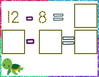 Subtraction Task Cards for Students with Visual Impairment