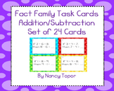 Subtraction Task Cards with Given Addition Fact