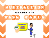 Grades 3 - 4 Subtraction Task Cards (with missing digits)