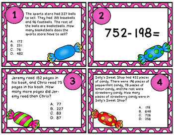Subtraction Task Cards (within 1,000)