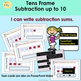 Subtraction - Tens Frame, Presentation Demo, 55 Task Cards