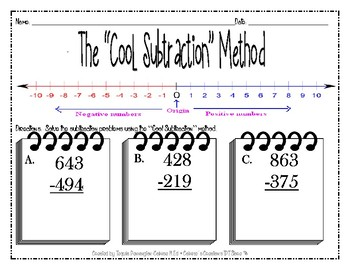 Subtraction - The Cool Method