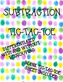 Subtraction Tic-Tac-Toe