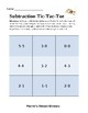 Subtraction Tic Tac Toe- Editable