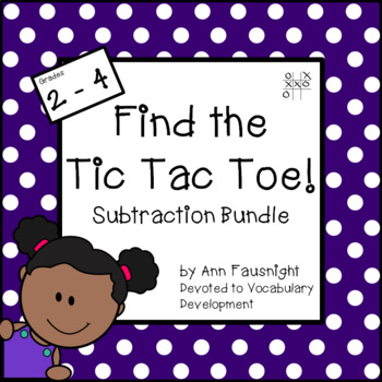 Subtraction Tic Tac Toe Games Bundle