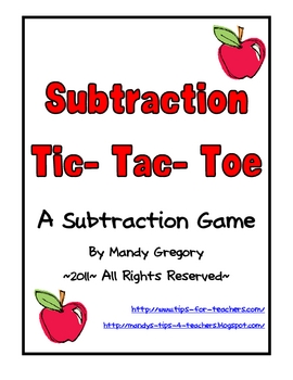 Subtraction Tic-Tac-Toe: Practicing Word Problems with a Game!
