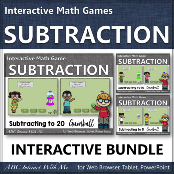Subtraction Time Bundle Interactive Math Games {gumball}