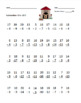 Subtraction Timed Math Drills 50 Problems (Dog Themed)