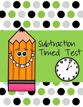 Subtraction Timed Test