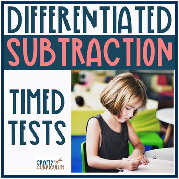 Subtraction Timed Test! Subtracting within 20 Differentiated