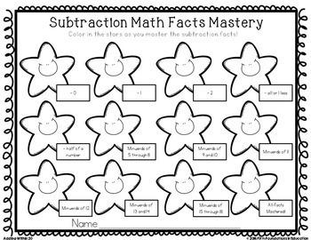 Subtraction Timed Tests & Flash Cards Bundle {0-20}