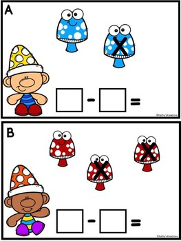 Subtraction To 5 Gnomes