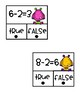 Subtraction True/False Clip Cards