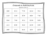 Subtraction Under 20 Connect Four