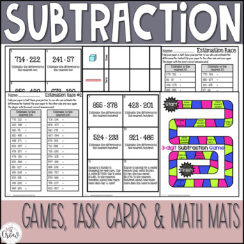 3rd Grade Subtraction Unit ~Common Core~