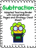 Subtraction Unit: Binder for students with Special Needs