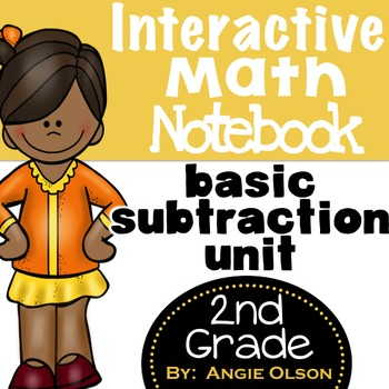 Subtraction Second Grade Math Notebook