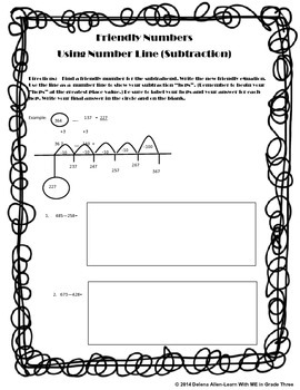 Subtraction-Using Number Line