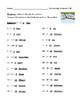 Subtraction Using Numbers Zero to Twenty (0-20) Worksheet or Homework