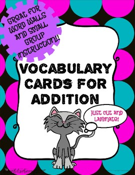 Addition Vocabulary Cards