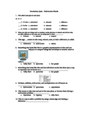 Subtraction Vocabulary Quiz