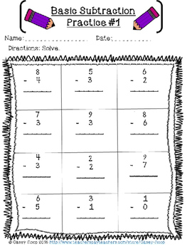 Subtraction WITH Regrouping Bundle