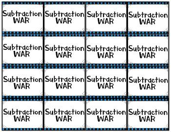 Subtraction War