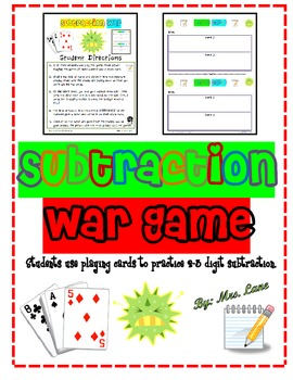 Subtraction War Game