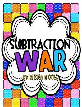 Subtraction War! (Great for Math Tubs)
