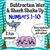 Subtraction Games - Subtraction War! Numbers 1-10