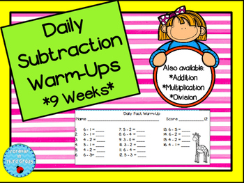 Daily Subtraction Facts