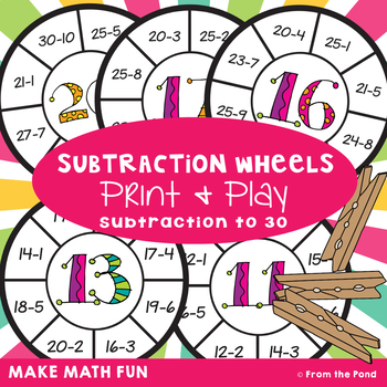 Subtraction Wheel Activity Cards