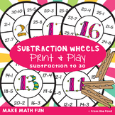 Subtraction Wheel Activity Cards