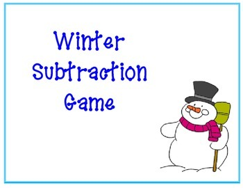Subtraction Winter Game