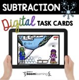 Subtraction Winter and Snow Boom Cards™ Kindergarten and f