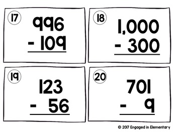 **UPDATED!!!** Subtraction With AND Without Regrouping SCOOT! Game BUNDLE!