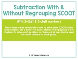 Subtraction With AND Without Regrouping SCOOT! Game BUNDLE!