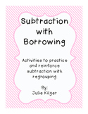 Subtraction With Borrowing Activities and Practice Worksheets