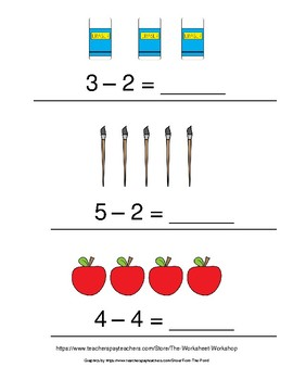 Subtraction With Pictures Under 5 (Part 2)